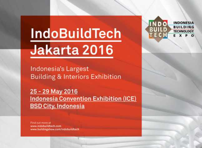 pameran bahan bangunan Indobuildtech 2016